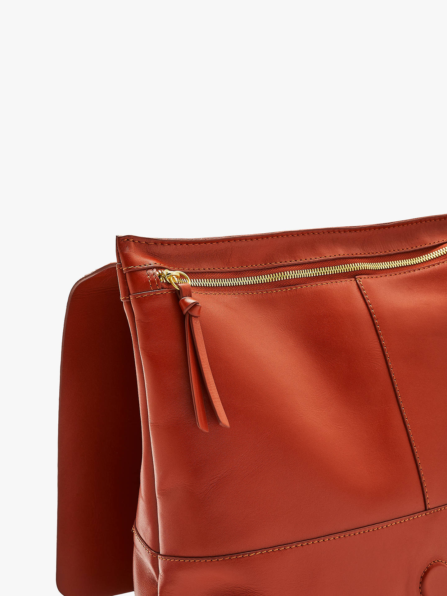 BuyJohn Lewis & Partners Alina Leather Slim Backpack, Bossa Nova Rust Online at johnlewis.com