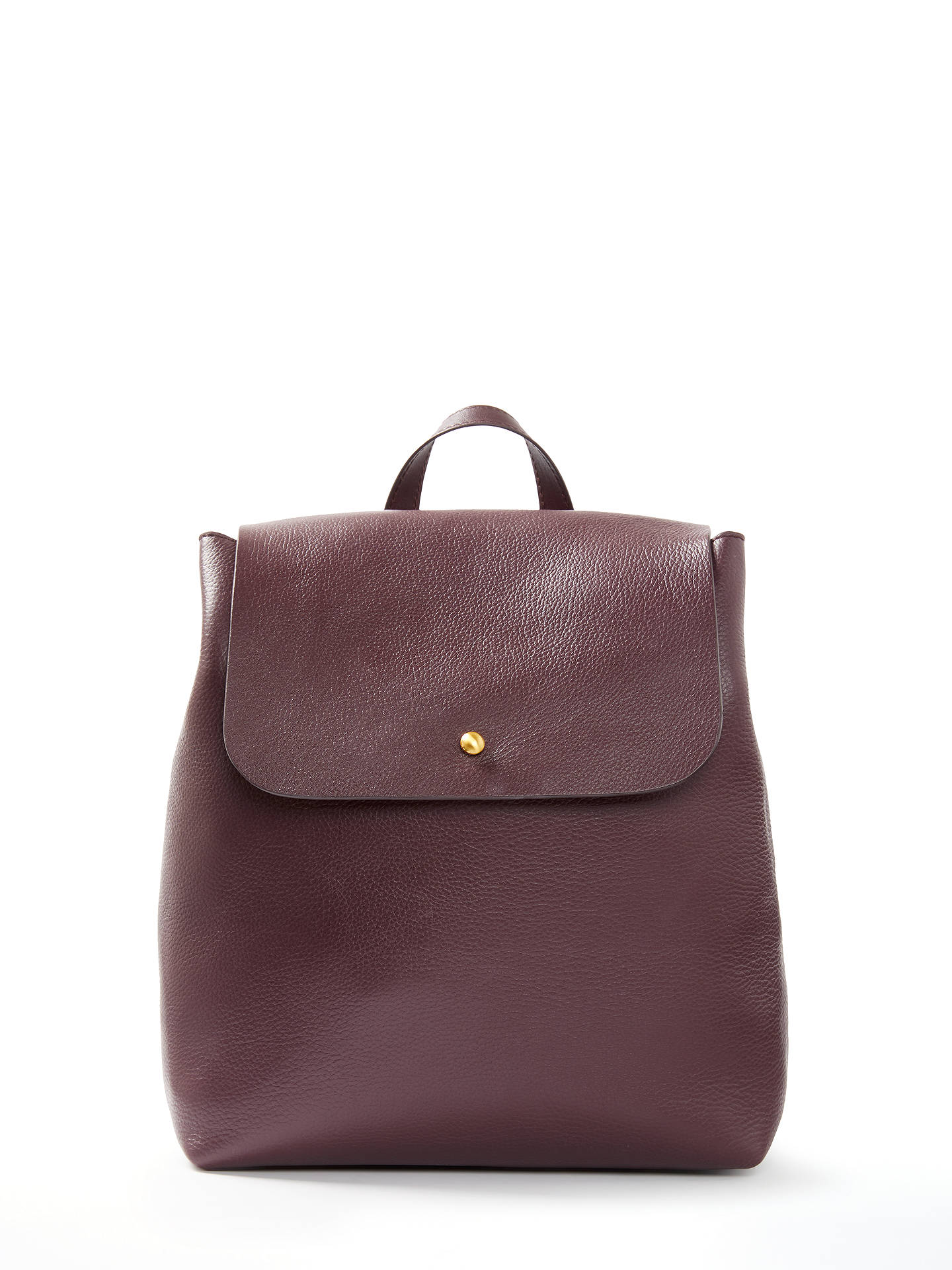 0c0e232f707 BuyJohn Lewis   Partners Rhea Leather Backpack, Burgundy Online at  johnlewis. ...