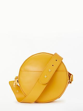 John Lewis Partners Lena Leather Circle Mini Cross Body Bag