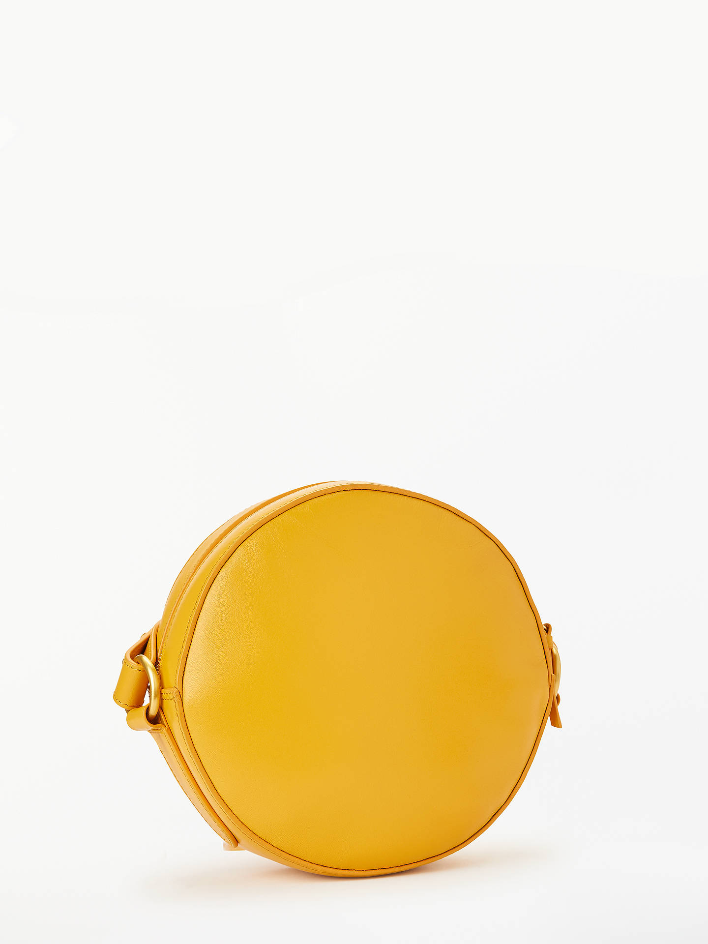 Buy John Lewis & Partners Lena Leather Circle Mini Cross Body Bag, Yellow Online at johnlewis.com