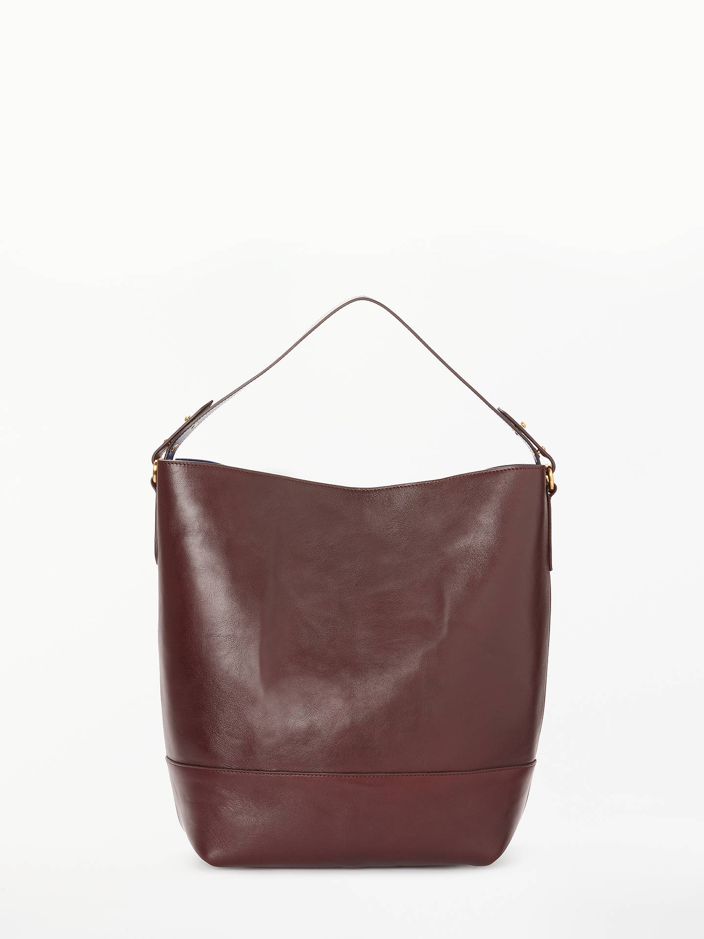 7d0b59c592b BuyJohn Lewis   Partners Sawyer Leather Large Contrast Colour Tote Bag,  Chestnut Online at johnlewis ...