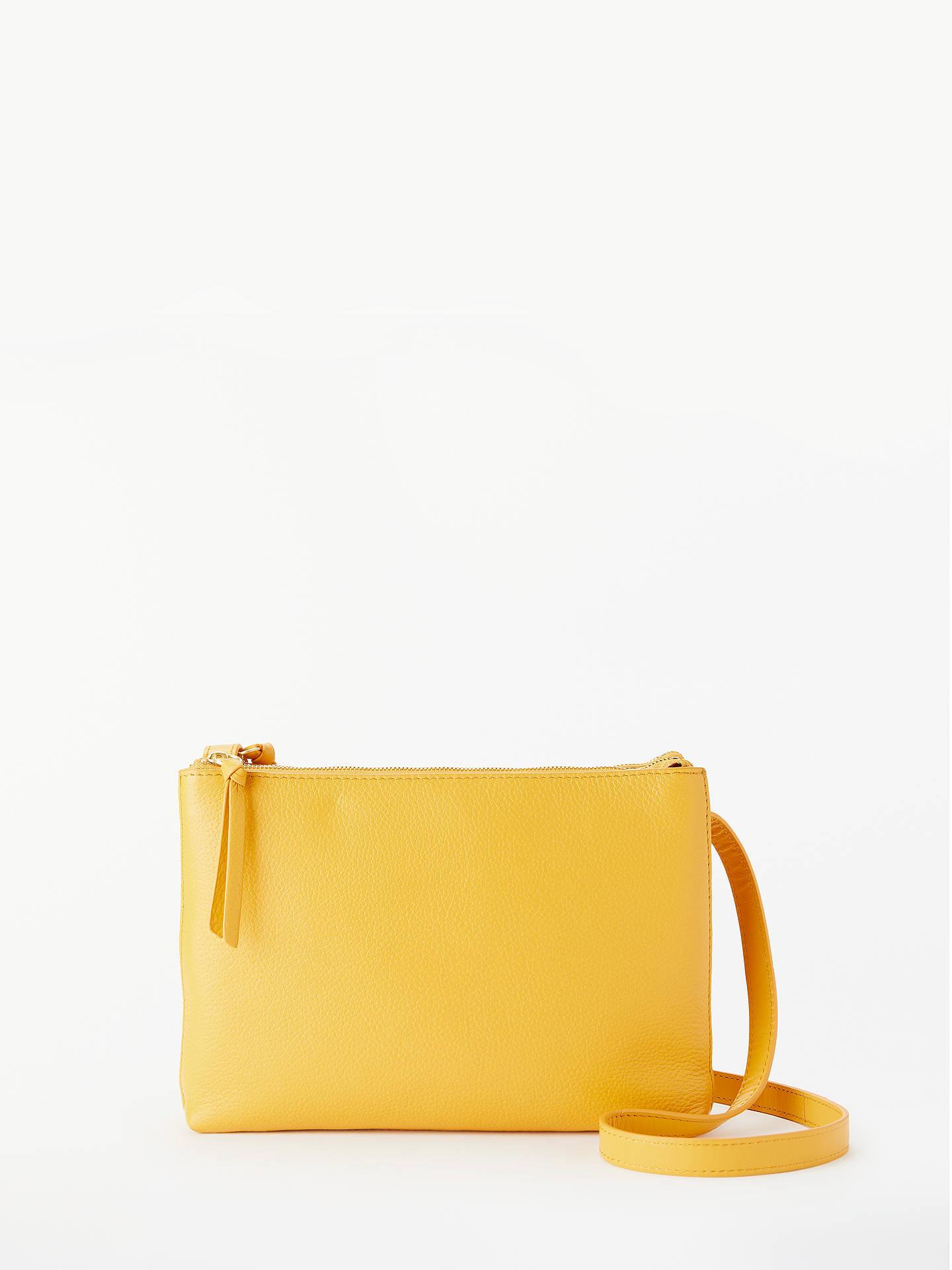 e392084dbb12 John Lewis   Partners Parker Leather Double Zip Cross Body Bag at ...