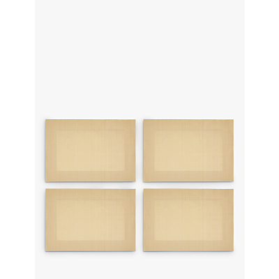 John Lewis & Partners Polypropylene Border Placemats, Set of 4, Gold