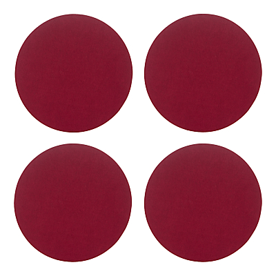 House by John Lewis Round Felt Placemats, Set of 4