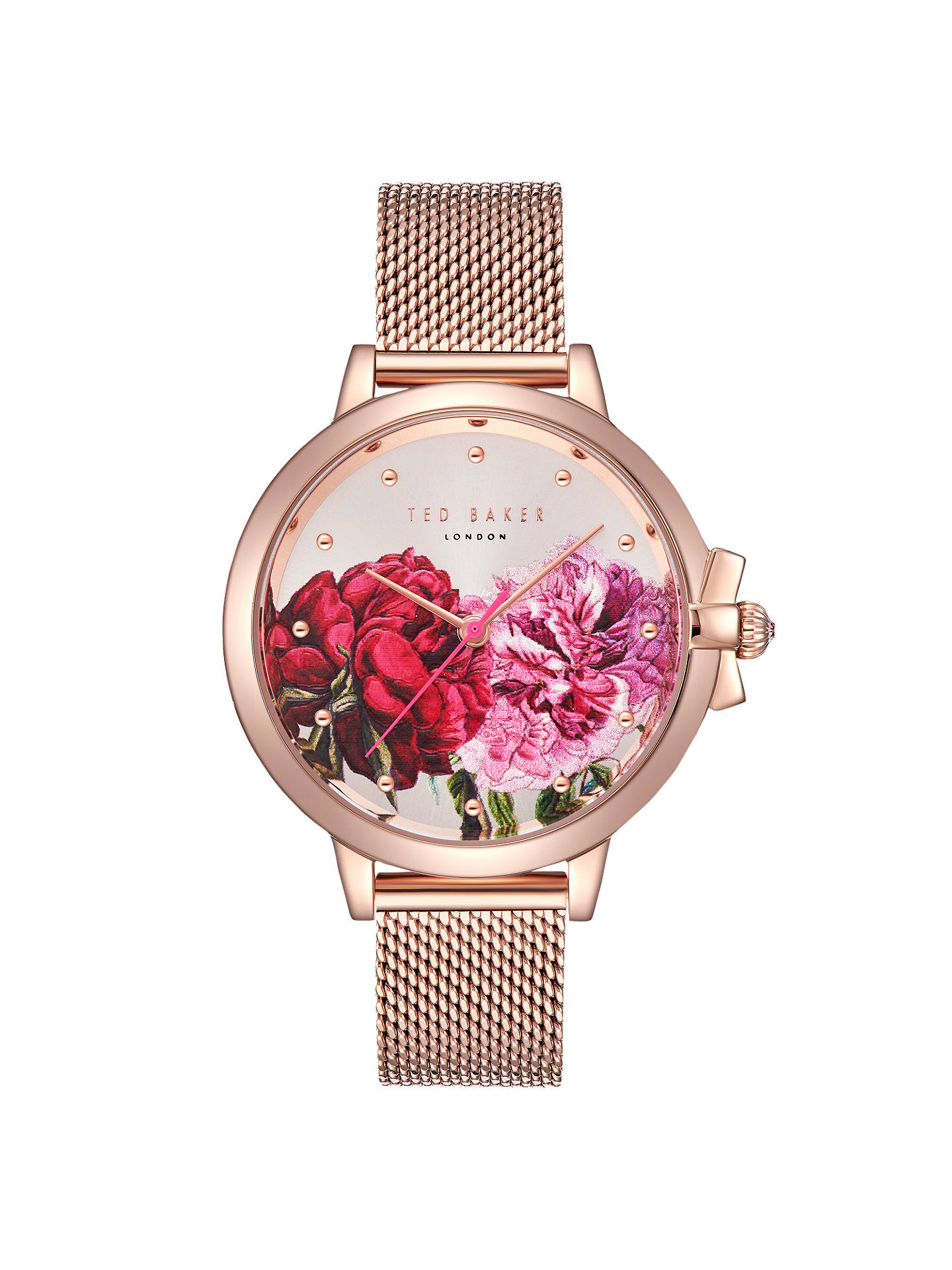 BuyTed Baker TE50267009 Women's Ruth Mesh Bracelet Strap Watch, Rose Gold/Multi Online at johnlewis.com