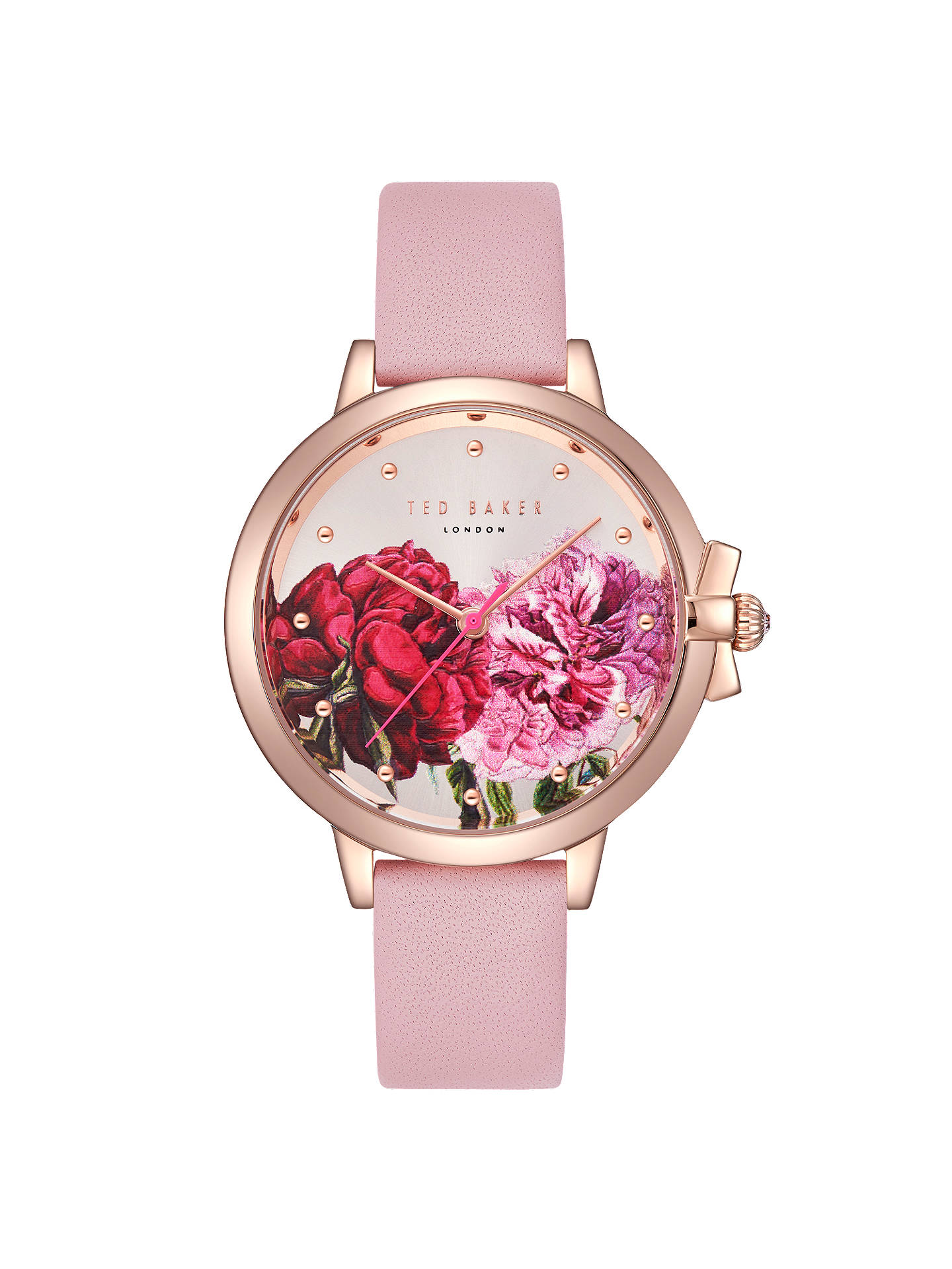 Ted Baker TE50267011 Women's Ruth Leather Strap Watch, Blush