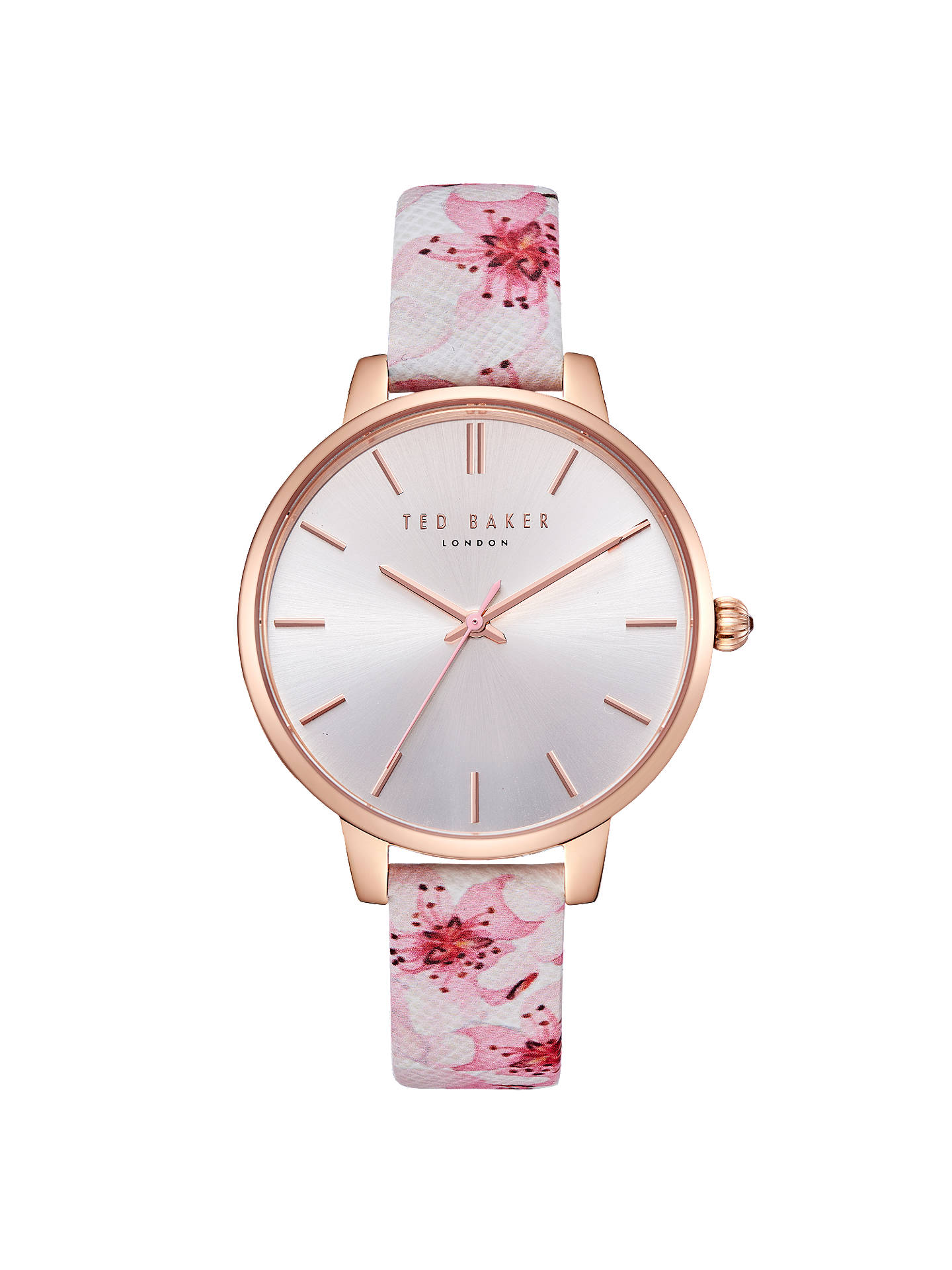 d24bb762d Ted Baker Women s Kate Floral Leather Strap Watch at John Lewis ...
