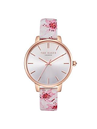 Ted Baker Women's Kate Floral Leather Strap Watch