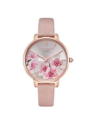 Ted Baker TE50005004 Women's Kate Leather Strap Watch, Pink/Multi