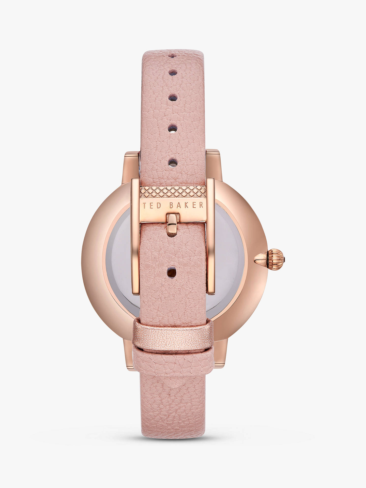 Buy Ted Baker TE50005004 Women's Kate Leather Strap Watch, Pink/Multi Online at johnlewis.com