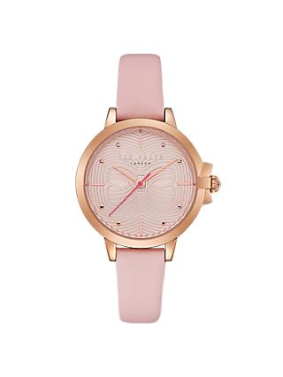 Ted Baker Women's Beth Bow Dial Leather Strap Watch
