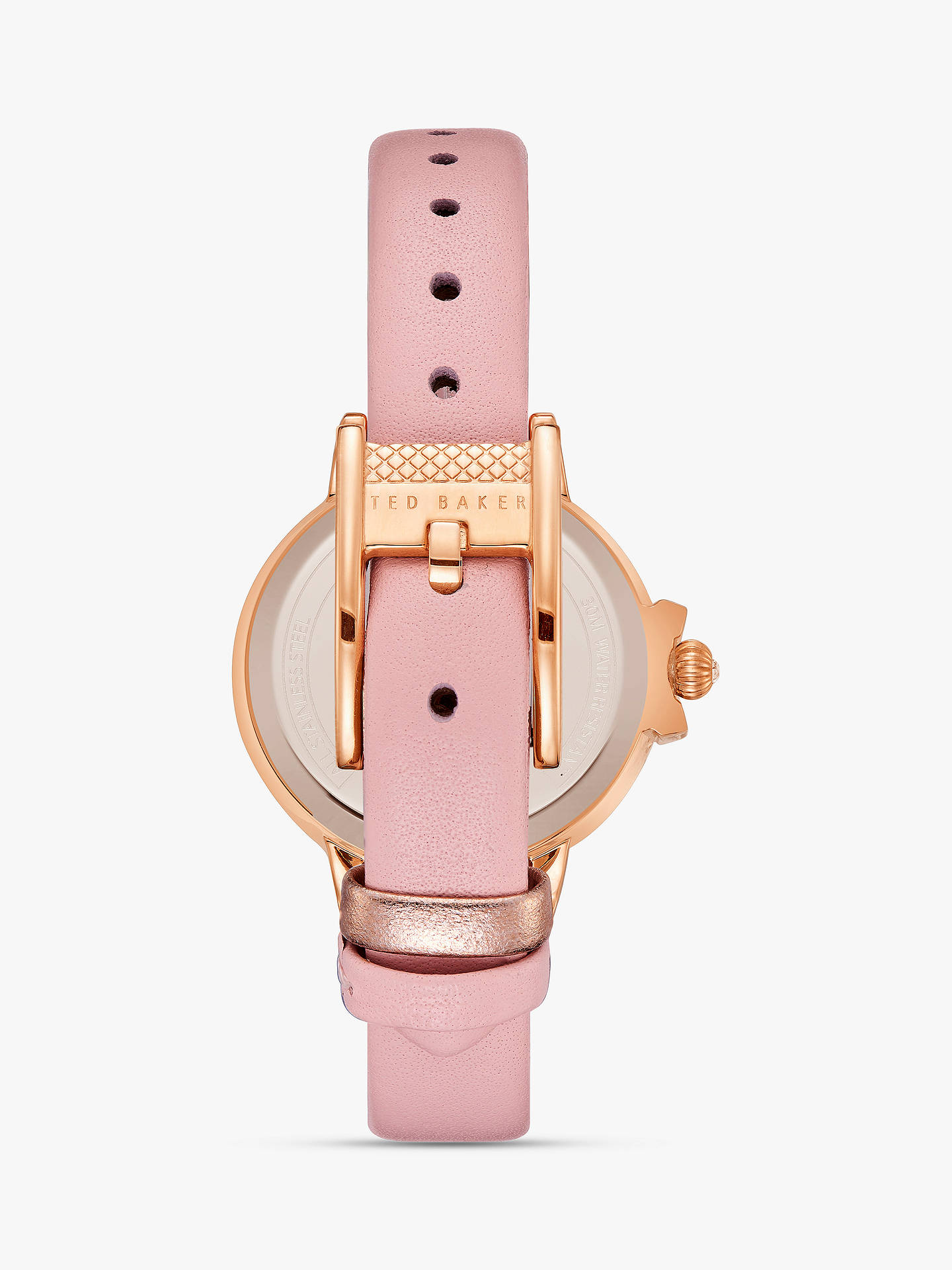 Buy Ted Baker Women's Beth Bow Dial Leather Strap Watch, Blush TE50280001 Online at johnlewis.com