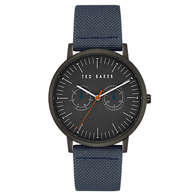 Image of Ted Baker TE50274004 Men's Brit Fabric Strap Watch, Blue/Black