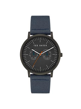 Ted Baker TE50274004 Men's Brit Fabric Strap Watch, Blue/Black