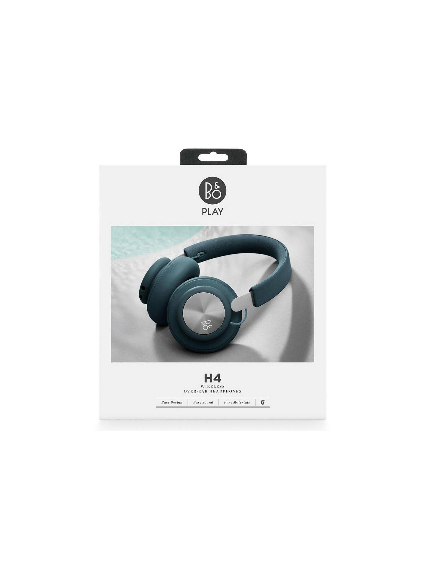 BuyB&O PLAY by Bang & Olufsen Beoplay H4 Wireless Bluetooth Over-Ear Headphones, Steel Blue Online at johnlewis.com
