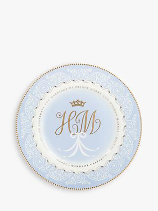 Royal Collection Harry And Meghan Royal Wedding Plate, Dia.22.5cm