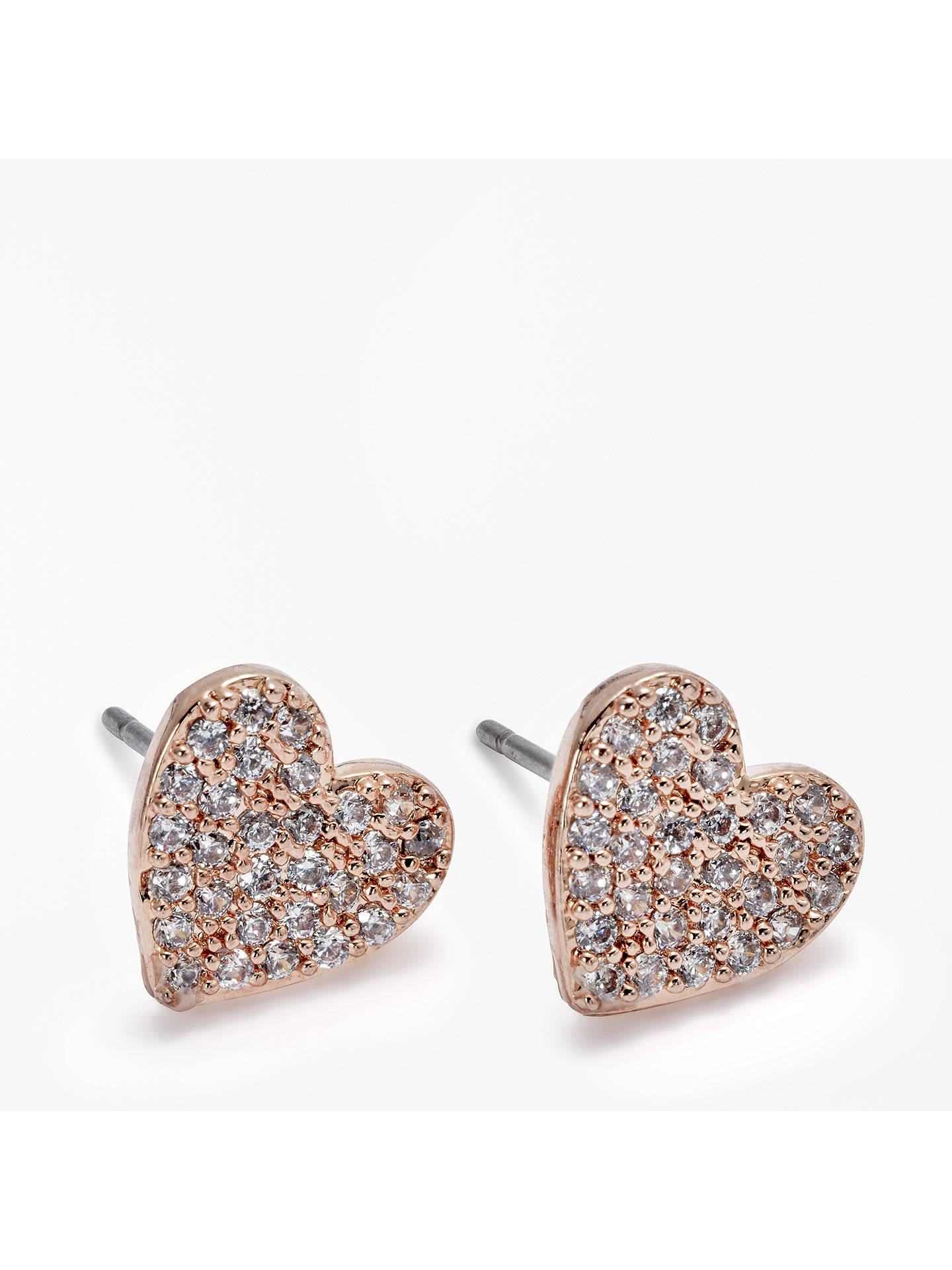 0dfd210279750 ... Buy kate spade new york Pave Heart Faux Pearl Reversible Stud Earrings