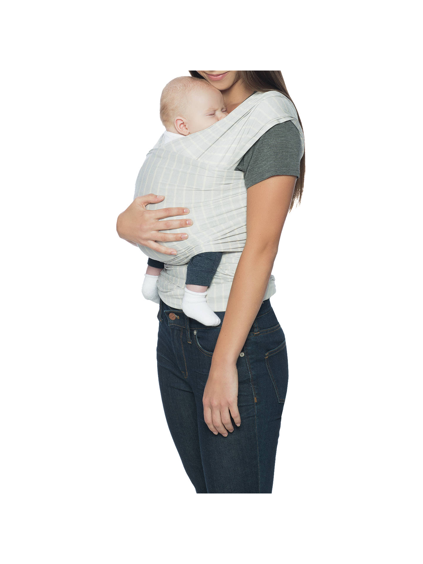 Ergobaby Aura Baby Carrier Wrap, Grey Stripe by Ergobaby