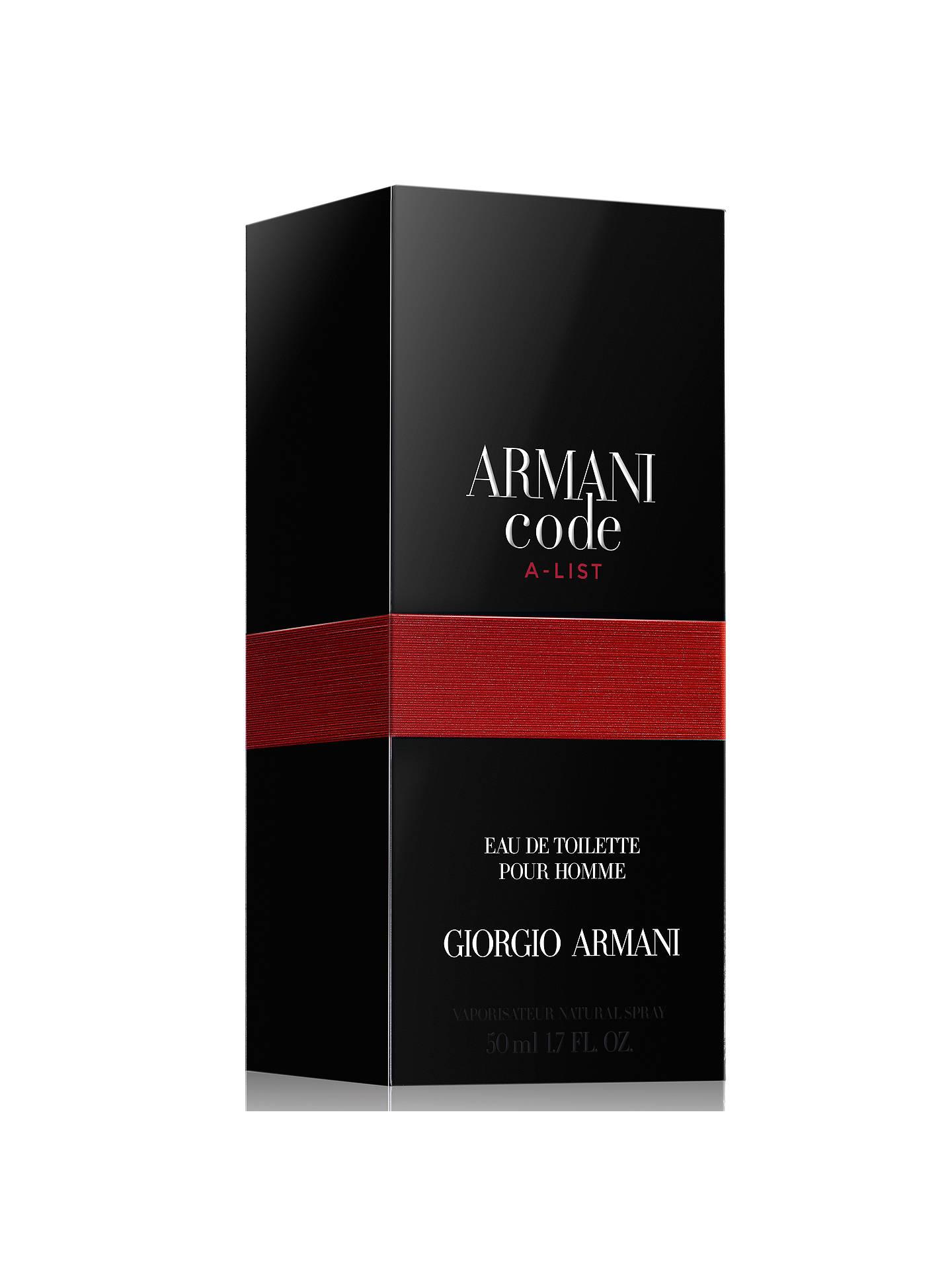 d0407a5c2 ... Buy Giorgio Armani Code A-List For Men Limited Edition Eau de Toilette