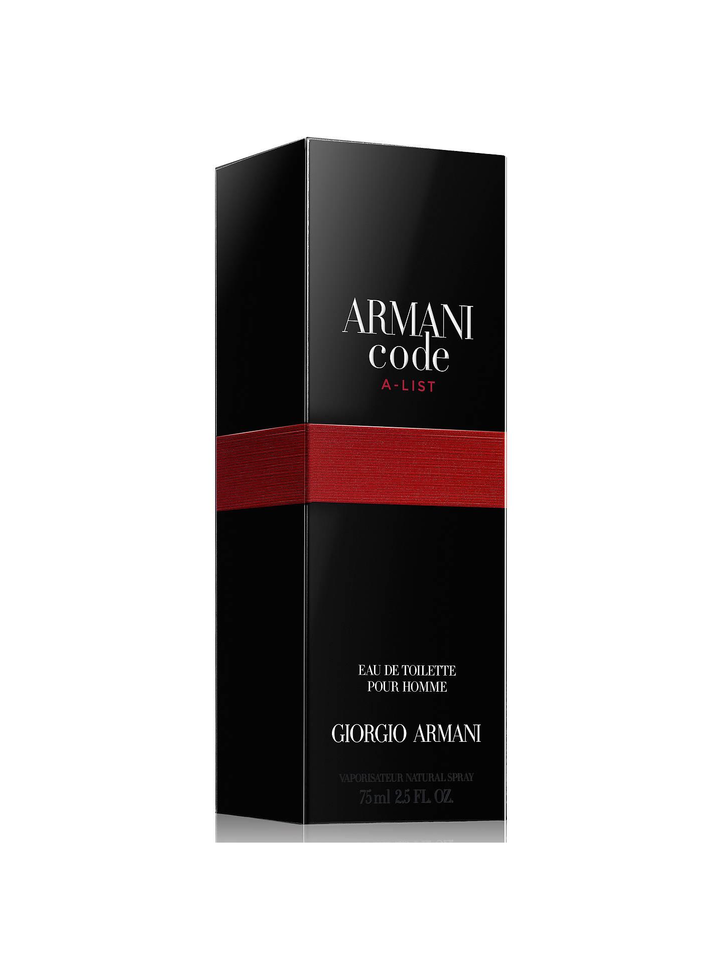 9a733b77136 ... BuyGiorgio Armani Code A-List For Men Limited Edition Eau de Toilette