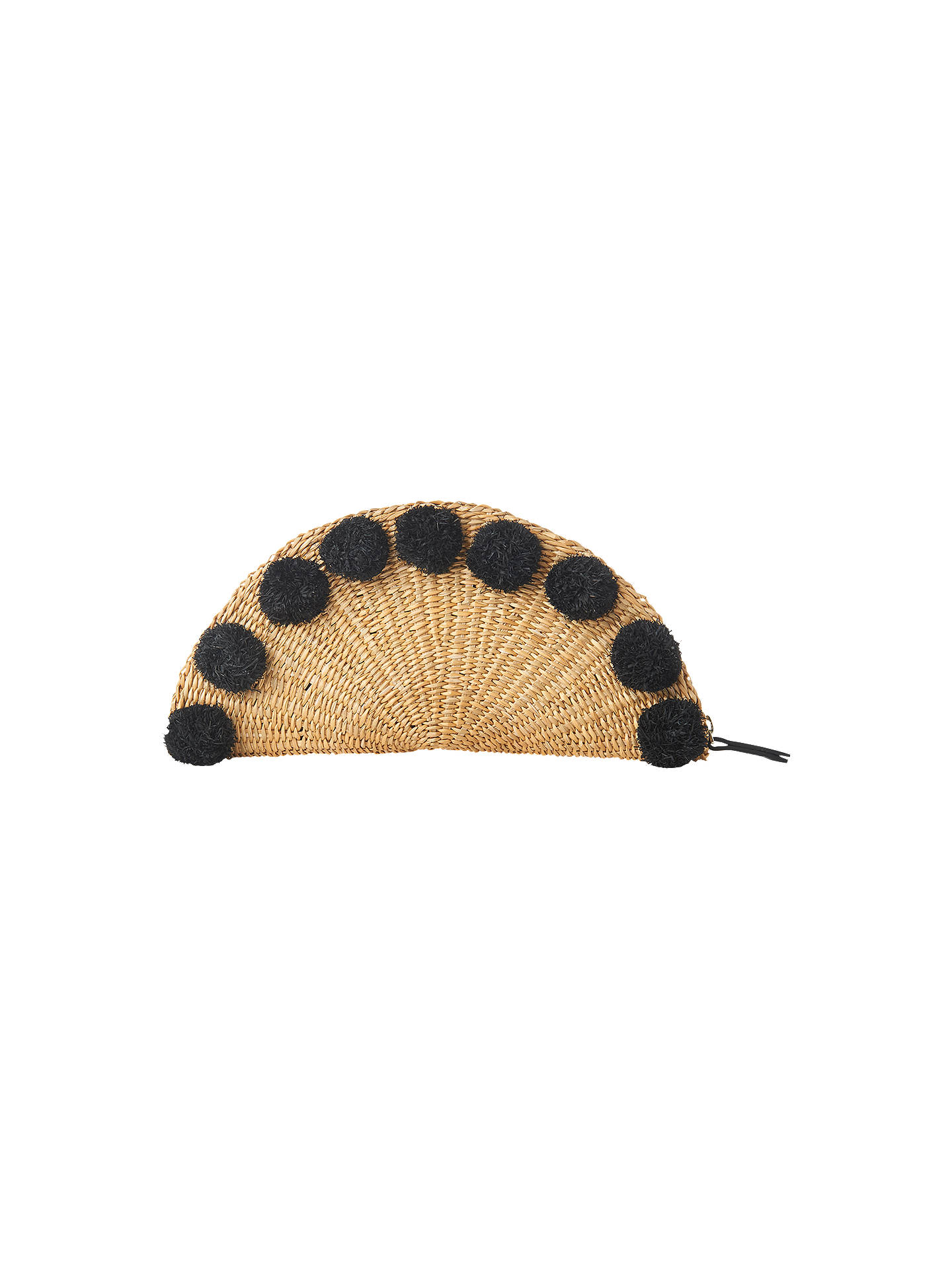 BuyWhistles Taco Pom Pom Clutch Bag, Neutral Online at johnlewis.com