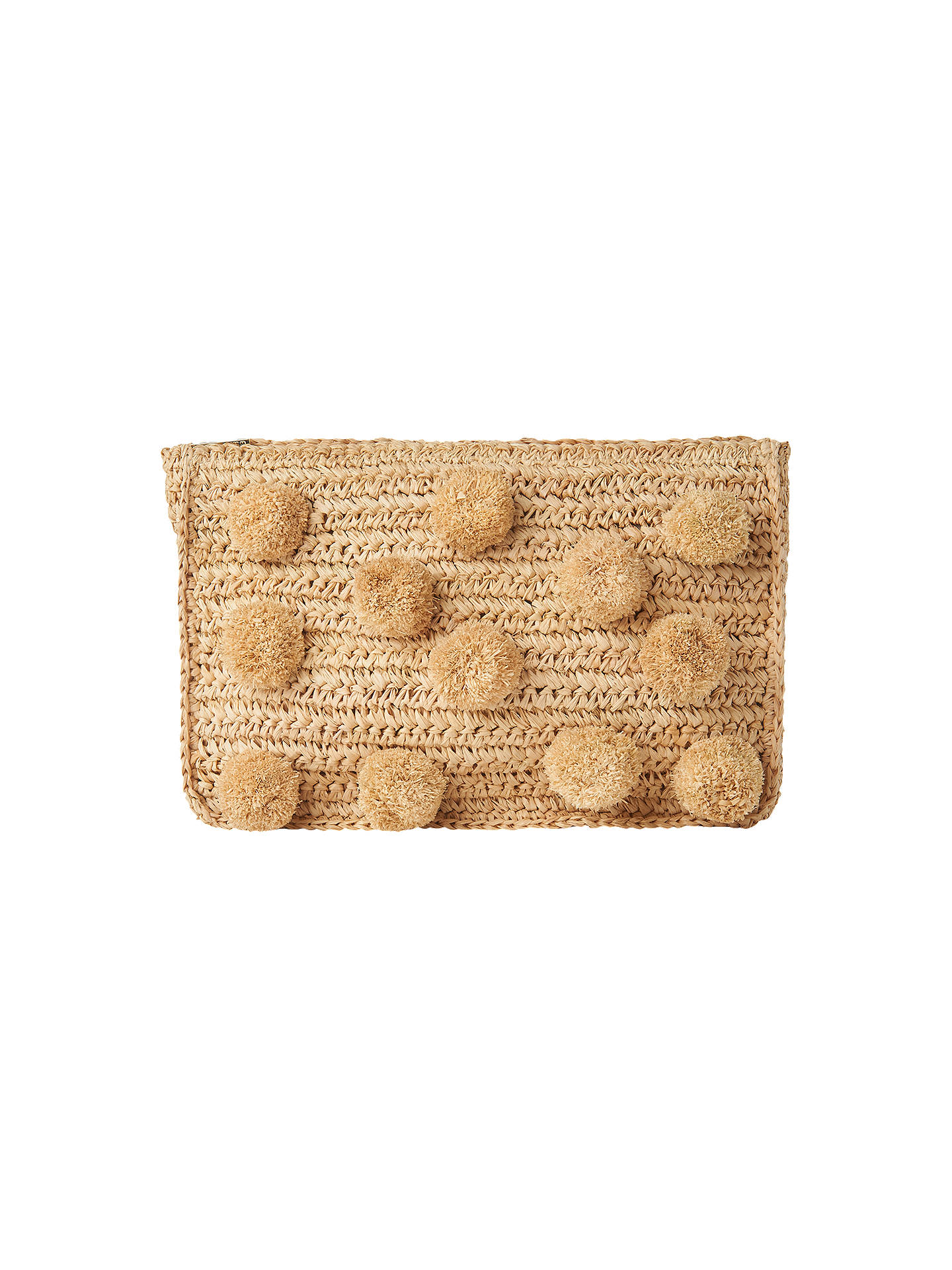 BuyWhistles Pom Pom Clutch Bag, Neutral Online at johnlewis.com