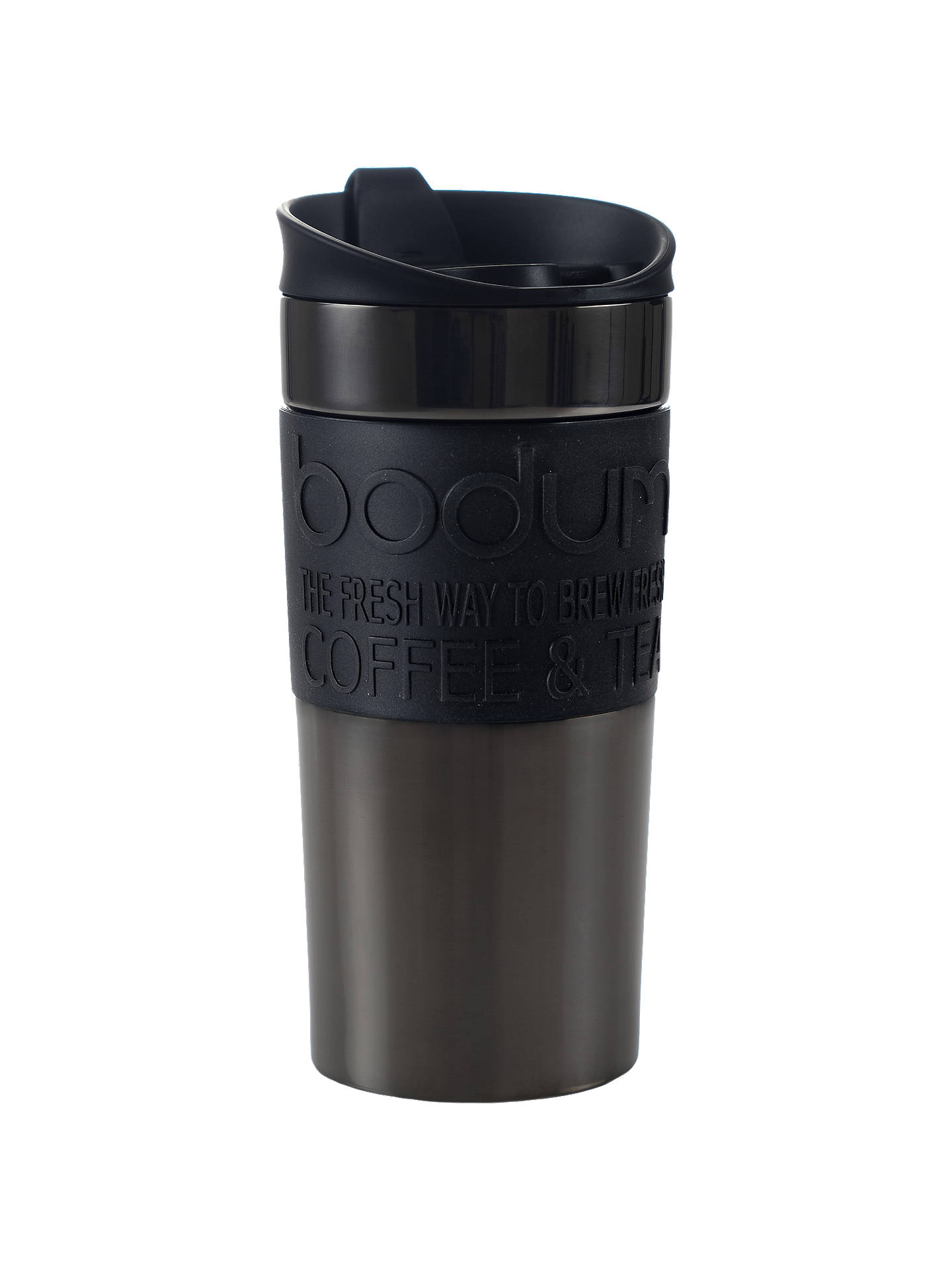 BuyBODUM Travel Mug, 350ml, Gun Metal Online at johnlewis.com