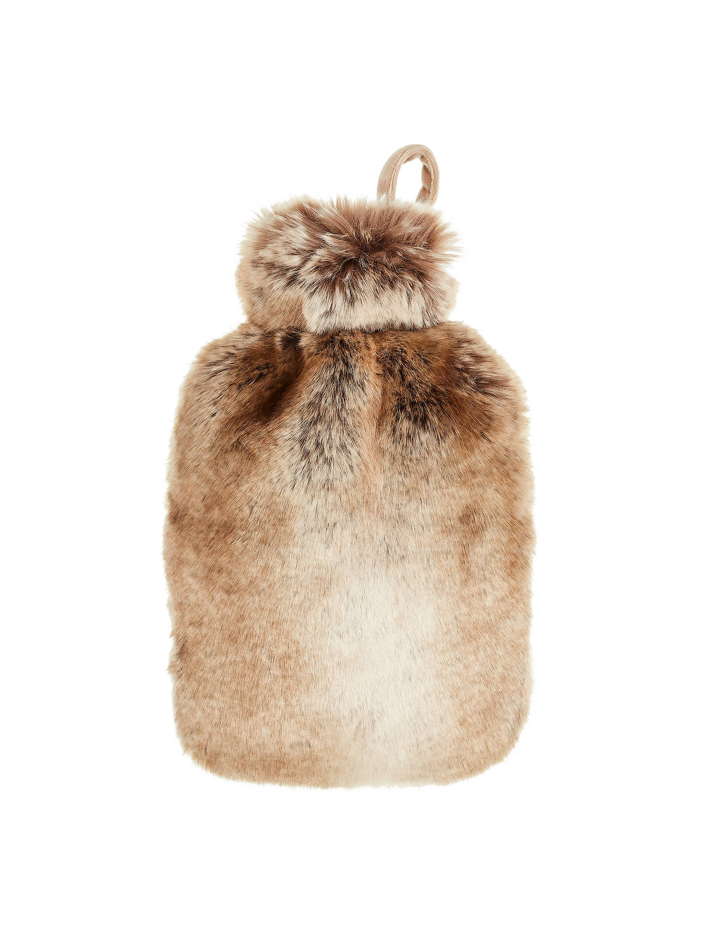 Buy John Lewis & Partners Hot Water Bottle and Cover, Brown Online at johnlewis.com