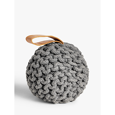 Croft Collection Chunky Knit Door Stop, Grey