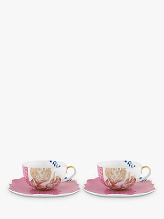 PiP Studio Royal Pip Cup and Saucer, Multi, 225ml, Set of 2