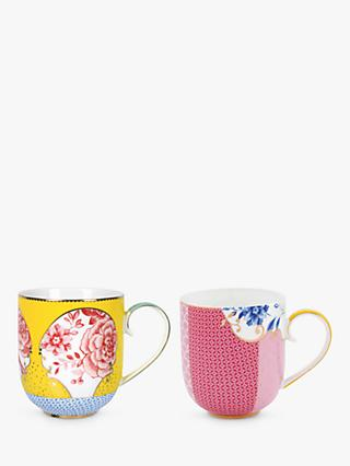 PiP Studio Royal Pip Large Flower Mugs, 325ml, Set of 2