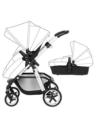 Silver Cross Pioneer Pushchair and Carrycot, Satin Black