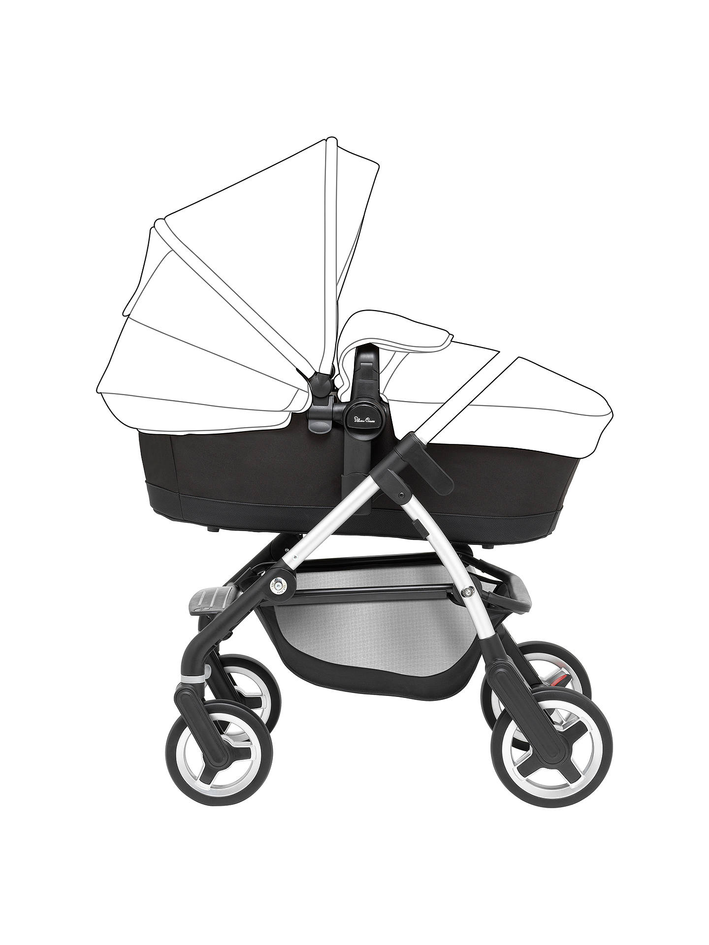BuySilver Cross Wayfarer Pushchair Seat, Chassis and Carrycot Base Online at johnlewis.com