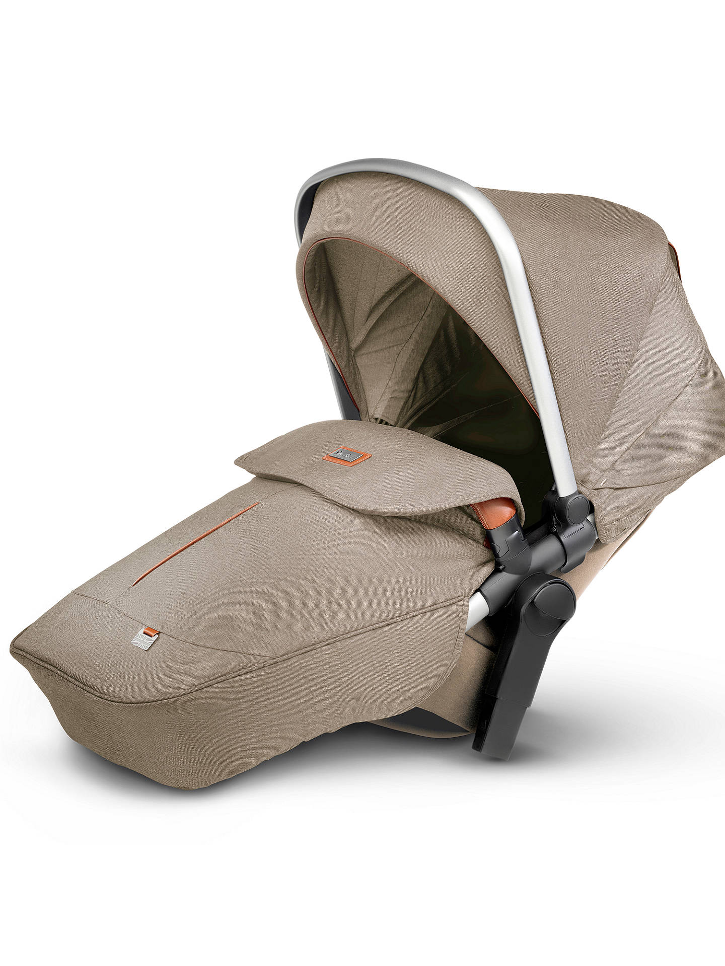 BuySilver Cross Wave Tandem Seat Unit, Linen Online at johnlewis.com