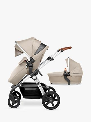Silver Cross Wave Pushchair and Carrycot, Linen