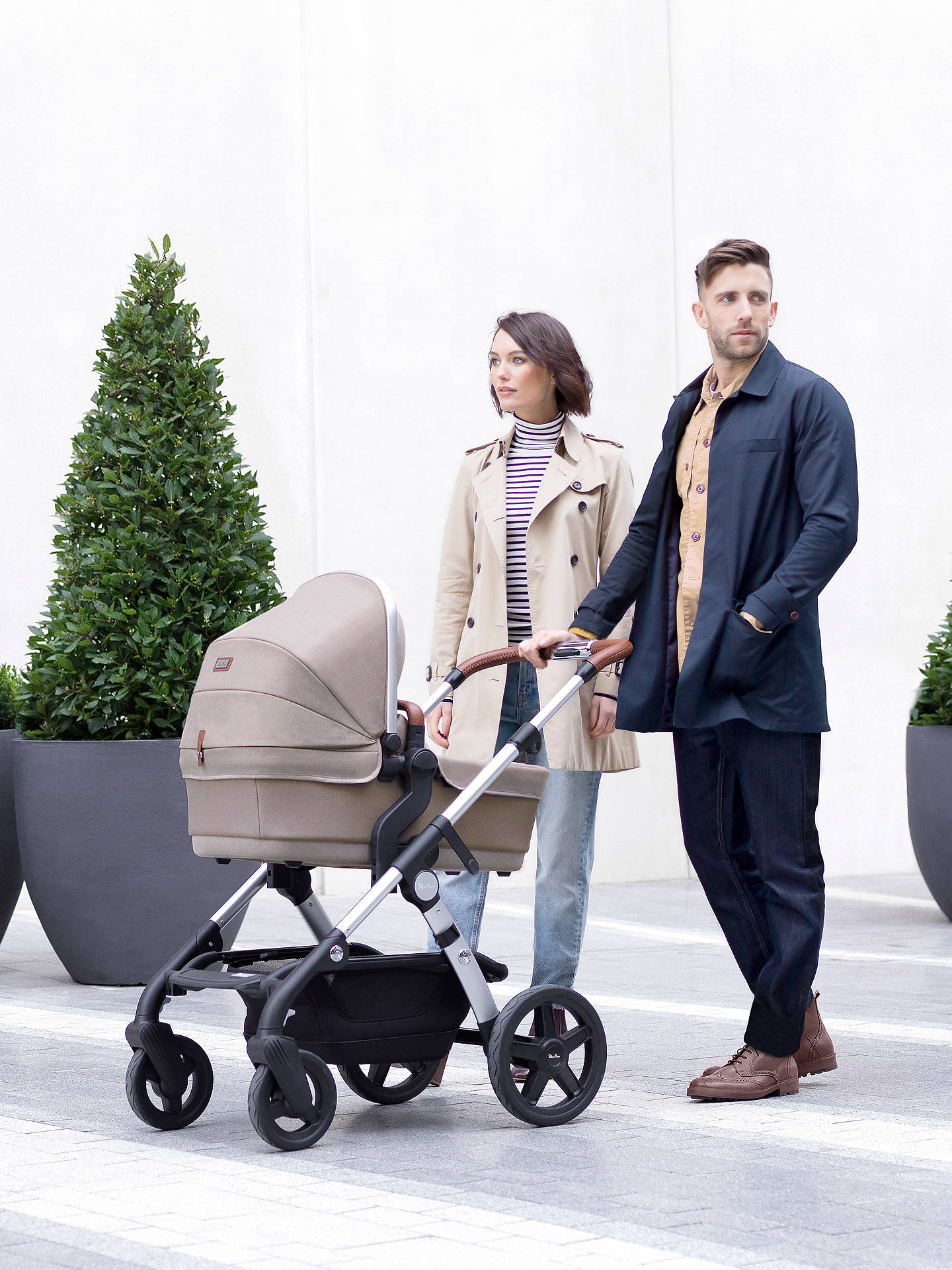 Buy Silver Cross Wave Pushchair and Carrycot, Linen Online at johnlewis.com