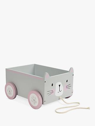 Great Little Trading Co Cat Book Storage Cart, Grey