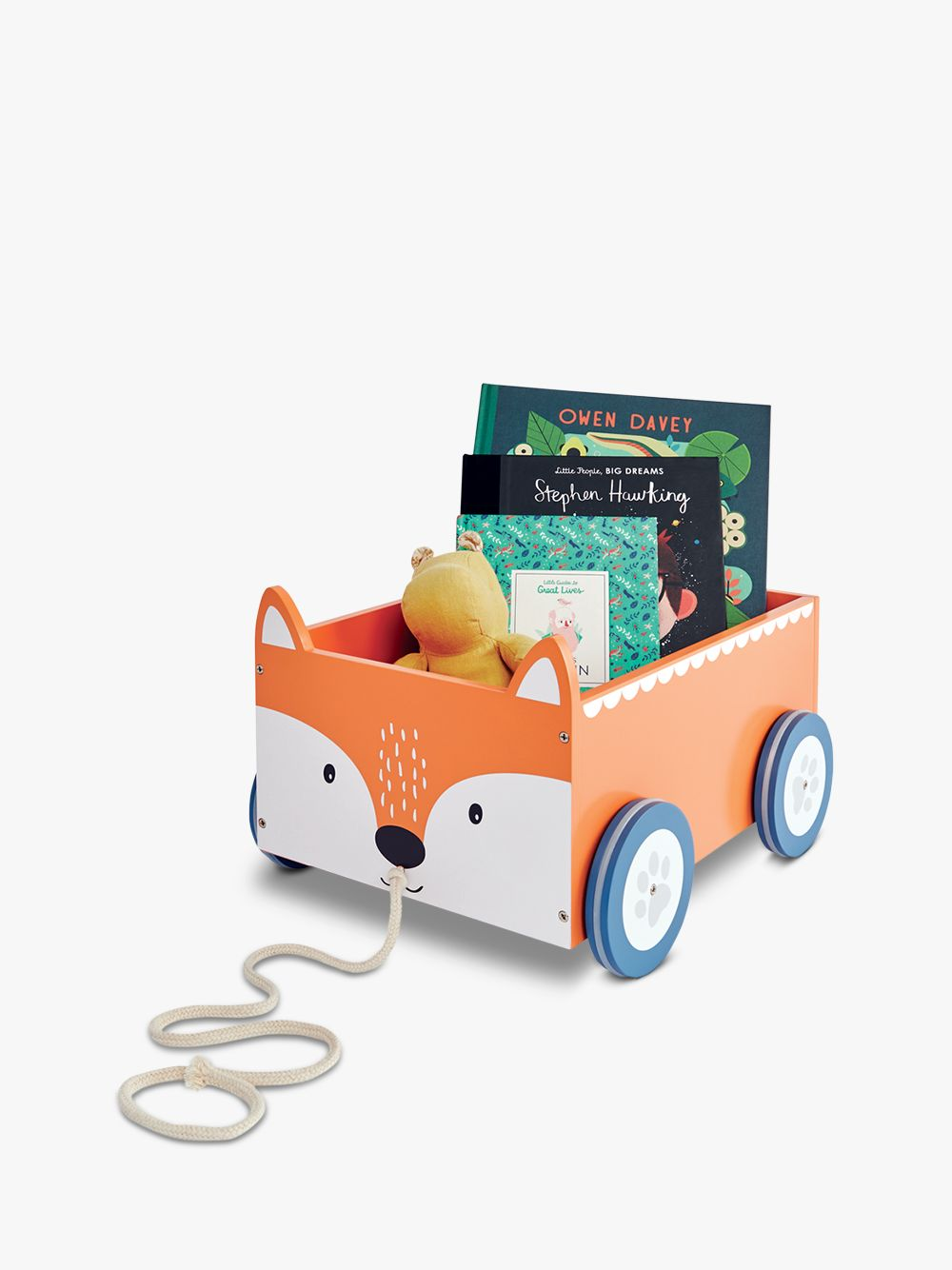 Great Little Trading Co Fox Book Storage Cart, Orange