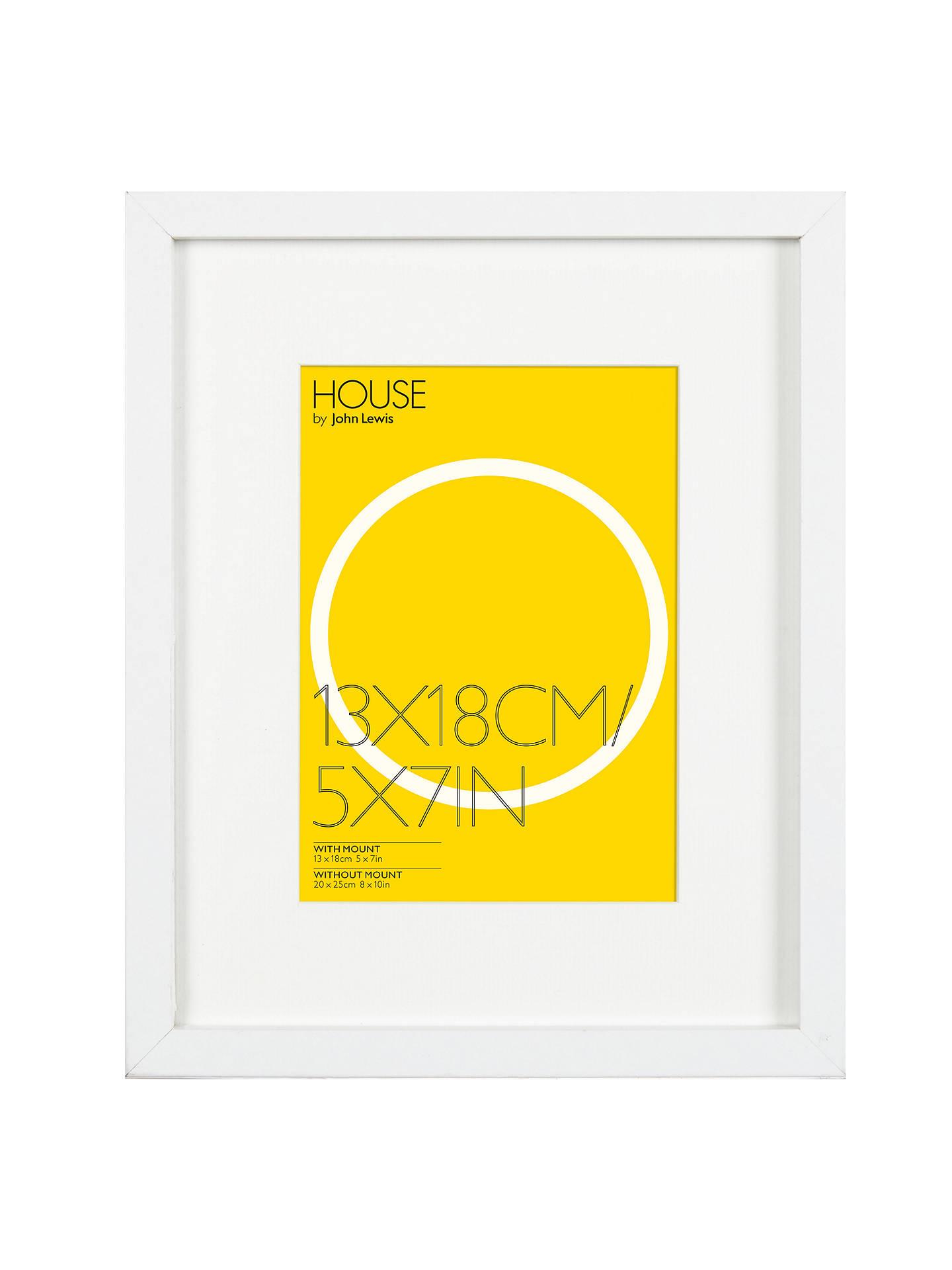 House by John Lewis Box Photo Frame & Mount, 5 x 7\