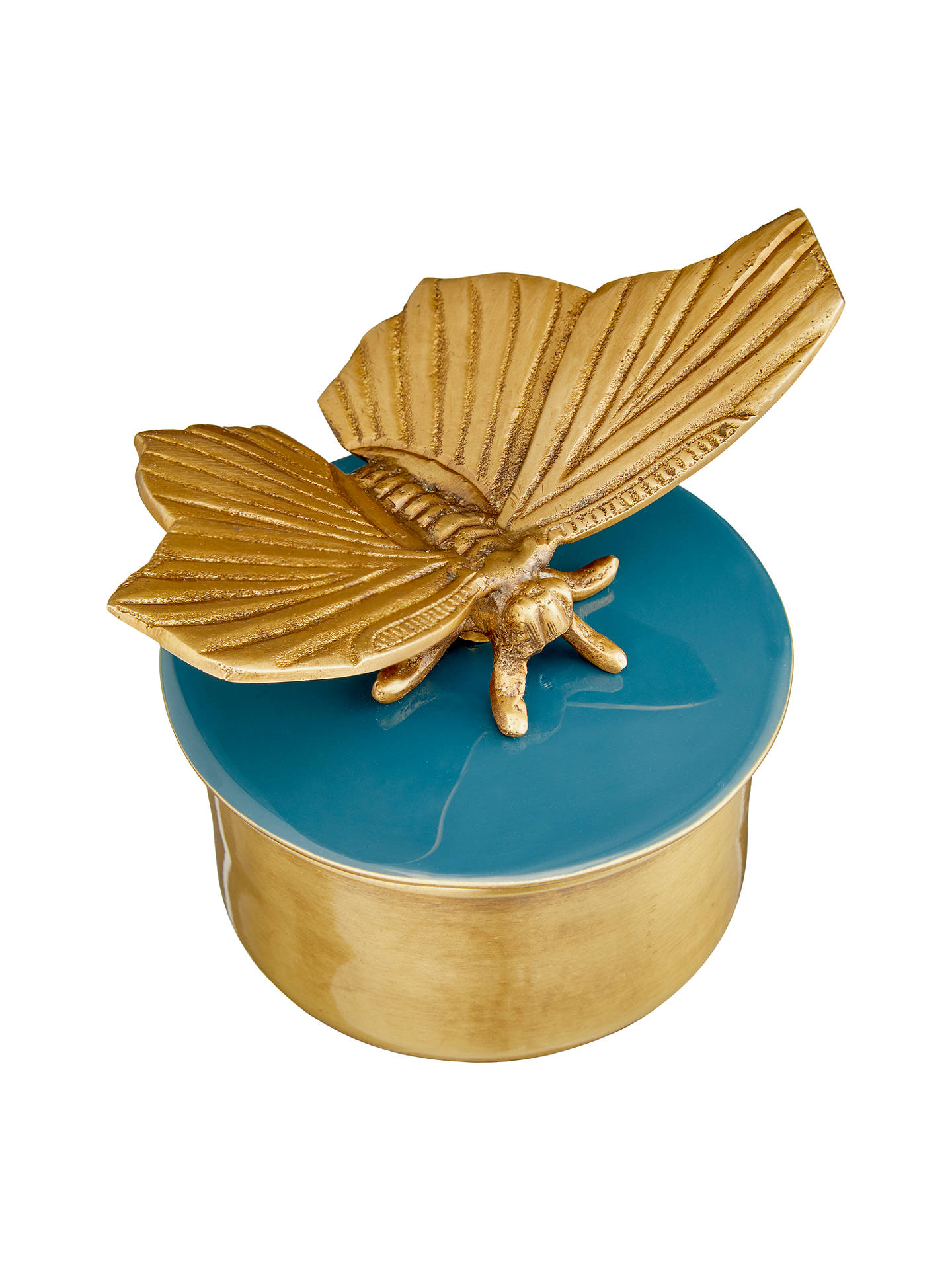 BuyJohn Lewis & Partners Butterfly Round Trinket Box Online at johnlewis.com