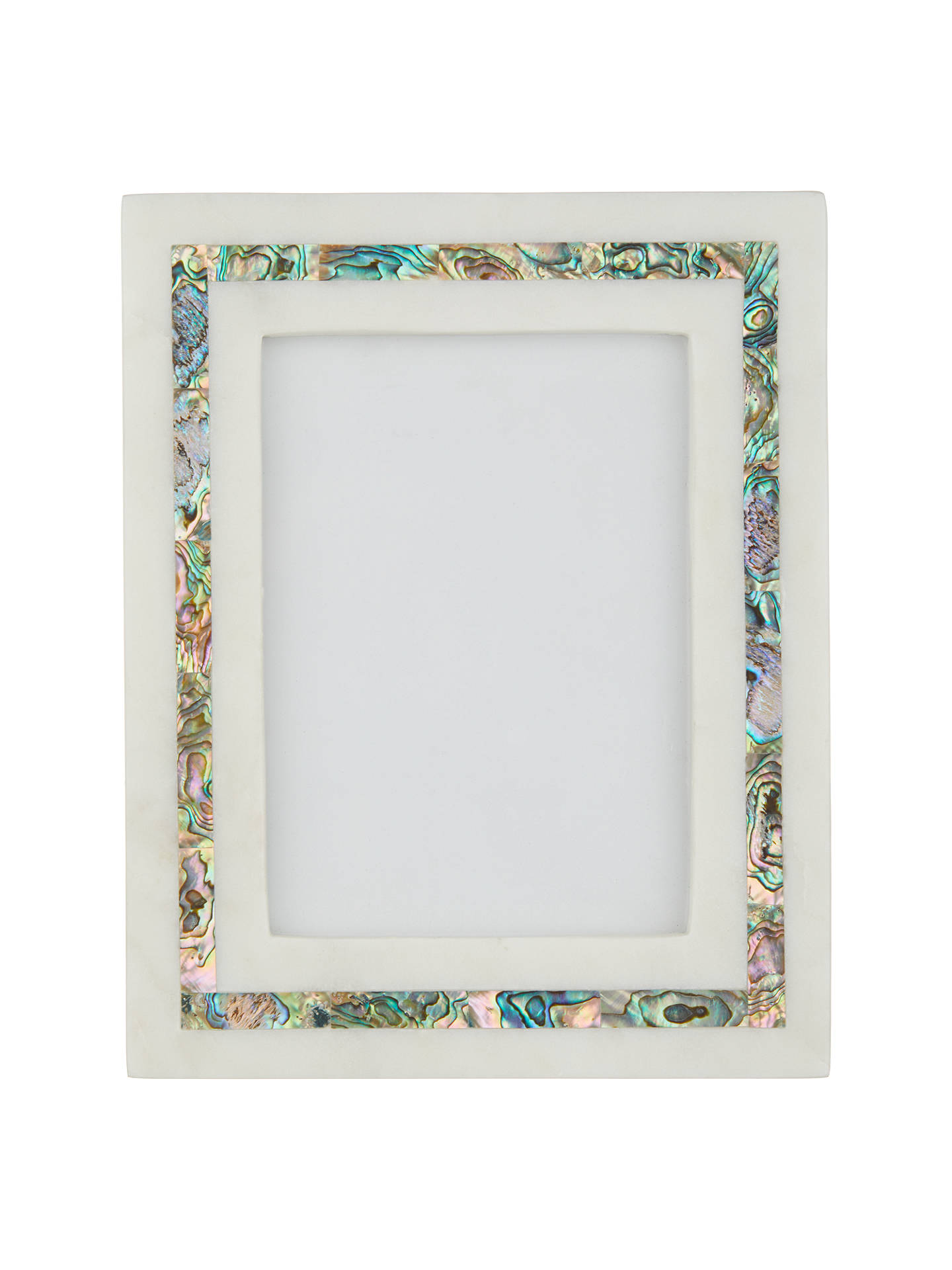 John Lewis Partners Marble Mother Of Pearl Photo Frame 5 X 7