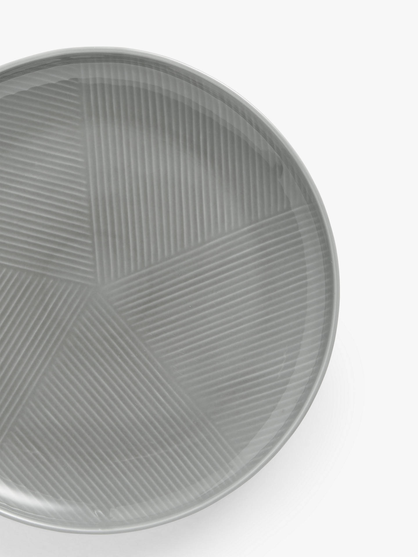 Buy Design Project by John Lewis No.098 Coupe Dinner Plate, 28cm, Grey Online at johnlewis.com