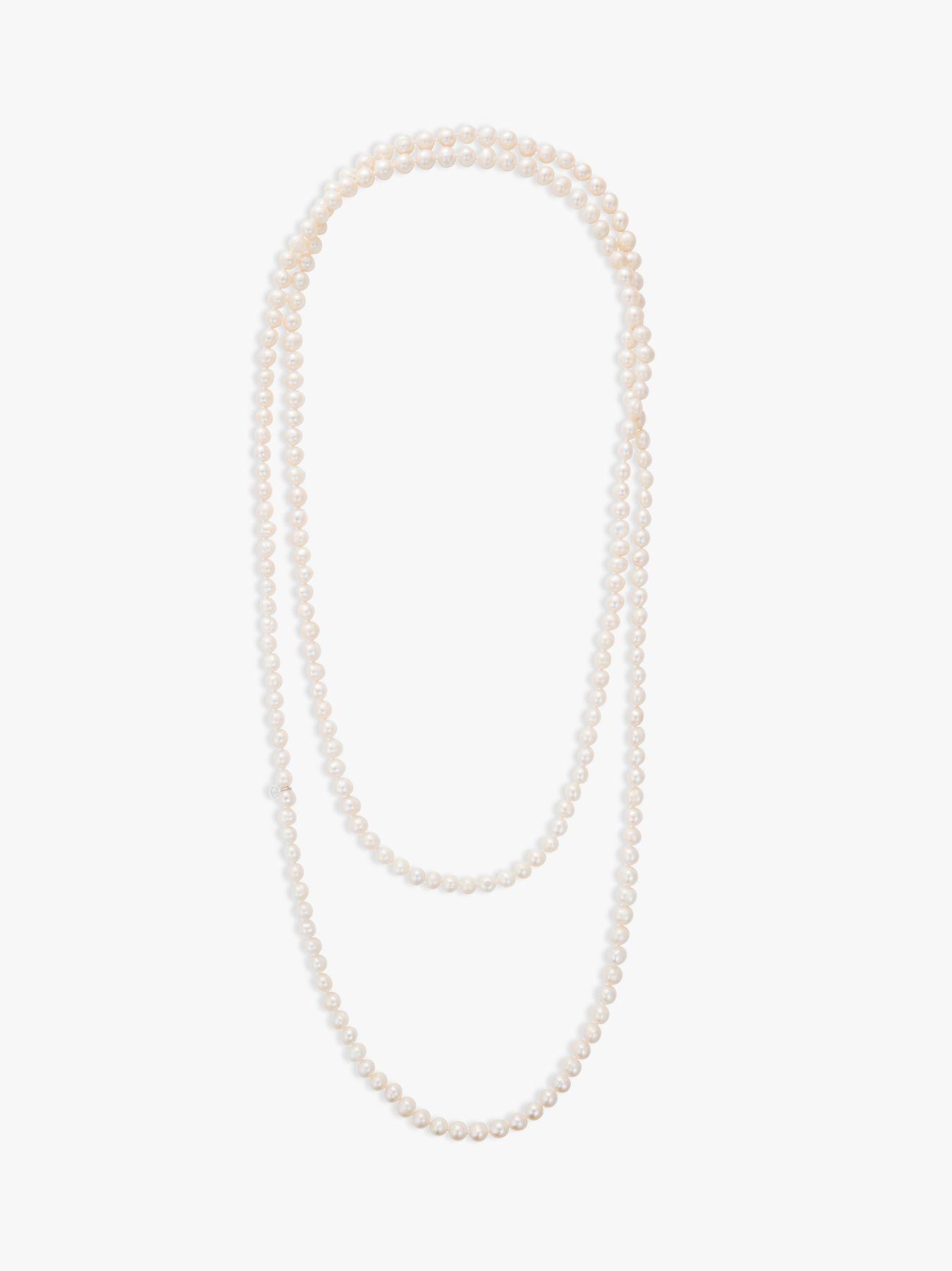 Claudia Bradby Claudia Bradby Long Freshwater Pearl Rope Necklace, White