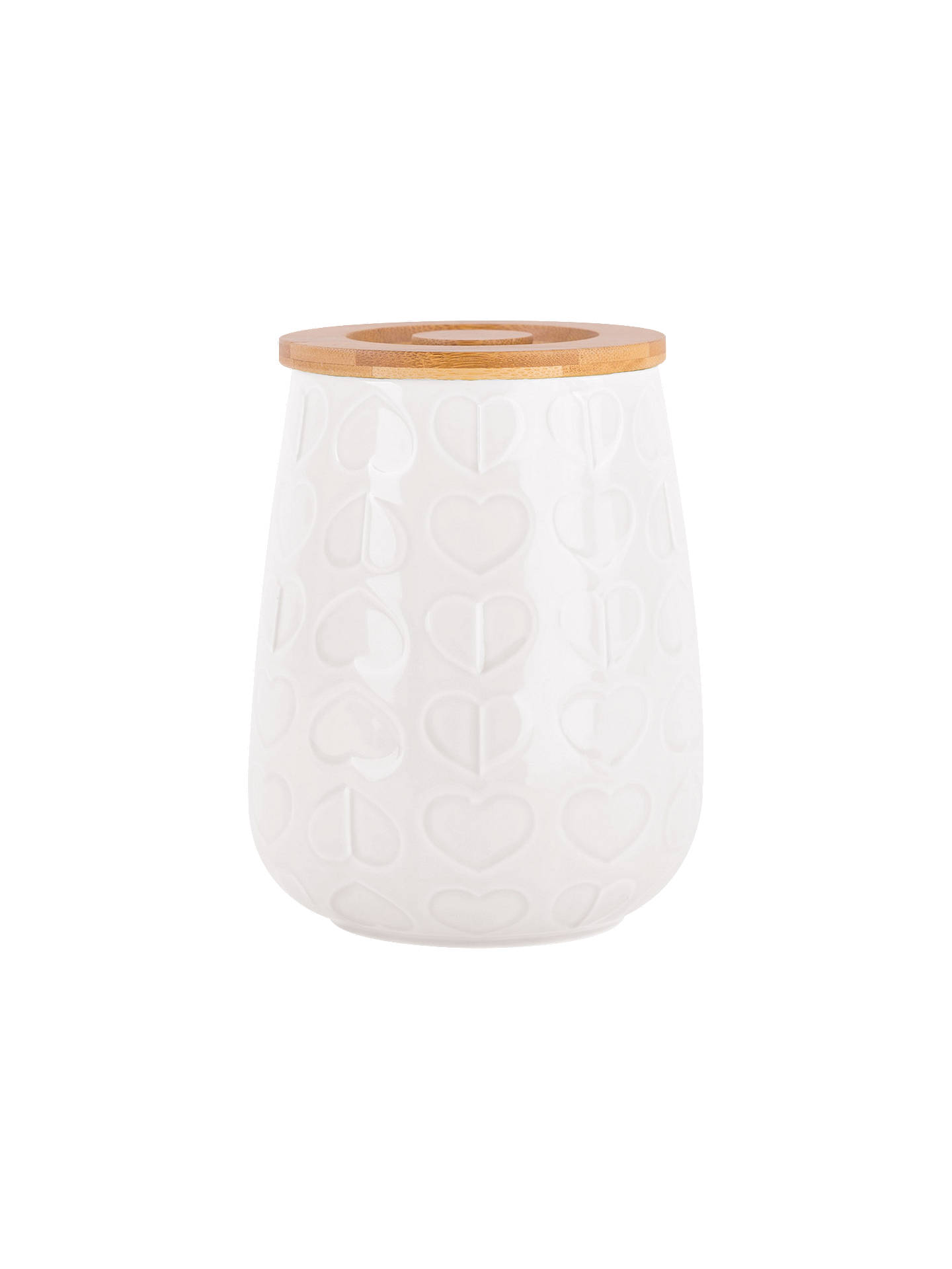 BuyBeau & Elliot Embossed Ceramic Medium Jar with Wood Lid, White Online at johnlewis.com