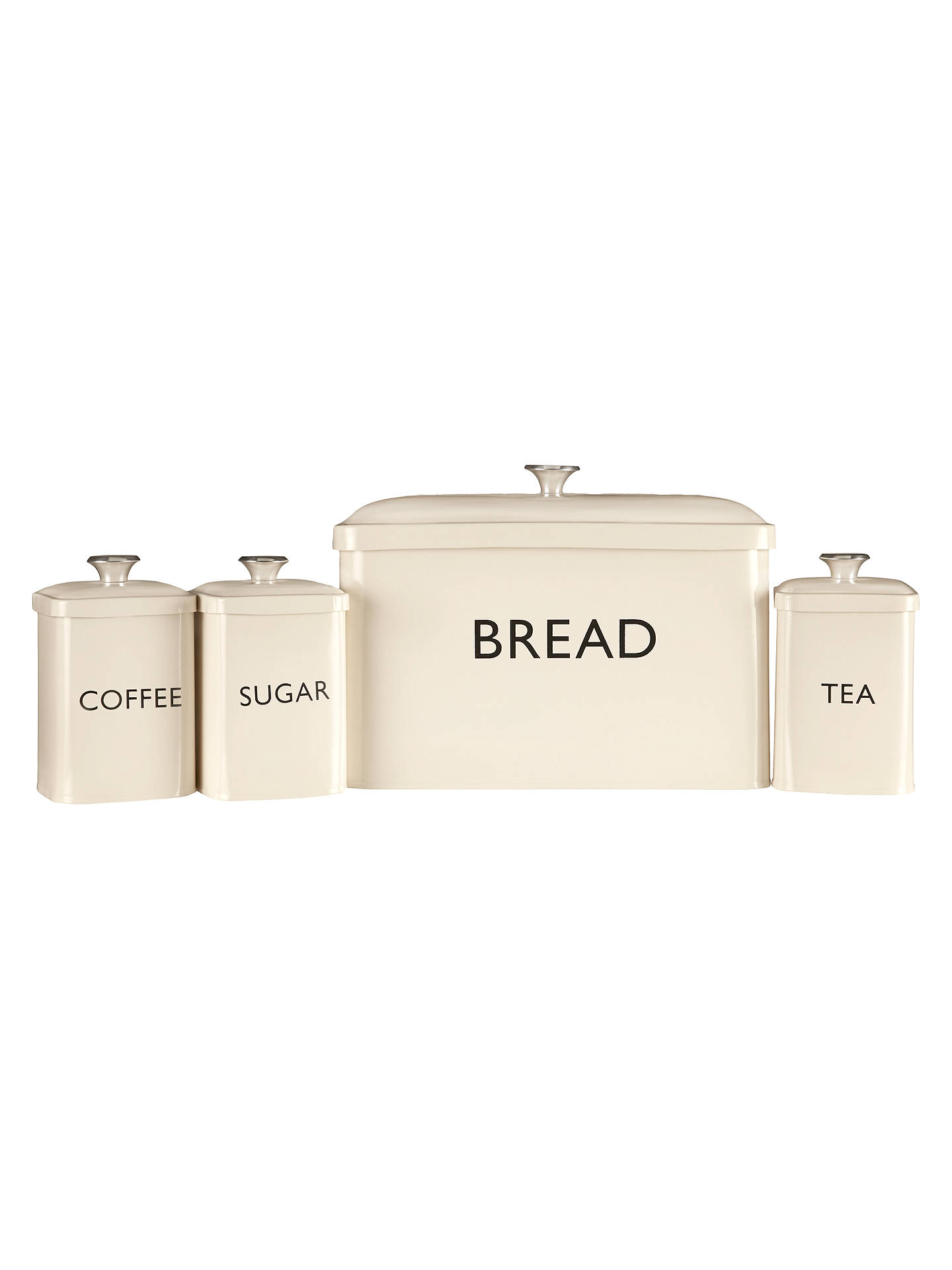 BuyJohn Lewis & Partners Enamel Tea Canister, Cream Online at johnlewis.com