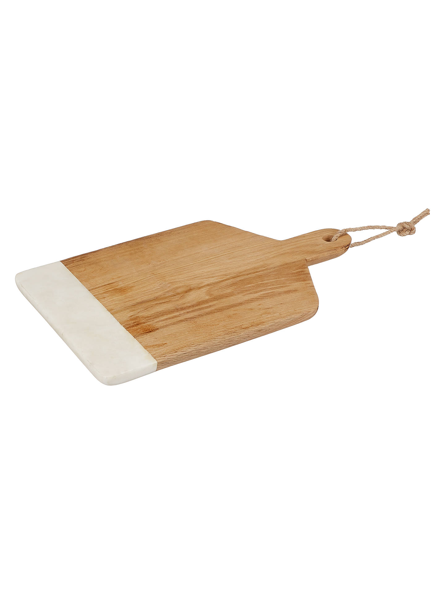 Buy Croft Collection Oak And Marble Board, Natural/White Online at johnlewis.com