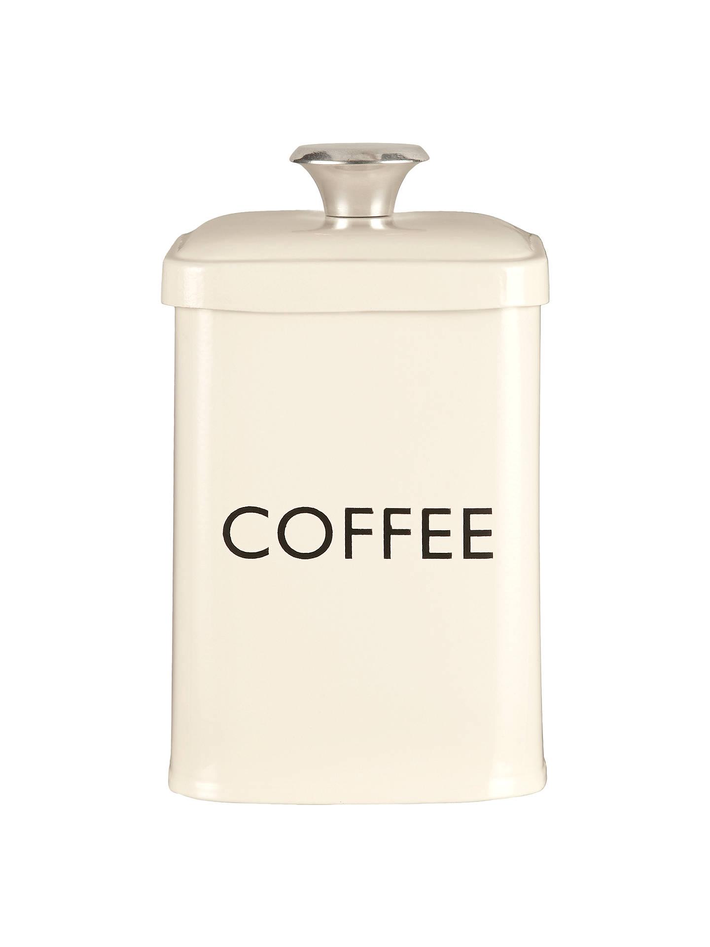 John Lewis Partners Enamel Coffee Canister Cream