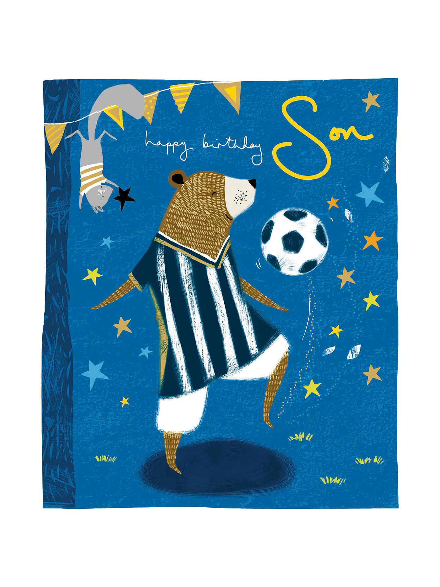 Buy Woodmansterne Son Football Birthday Card Online At Johnlewis