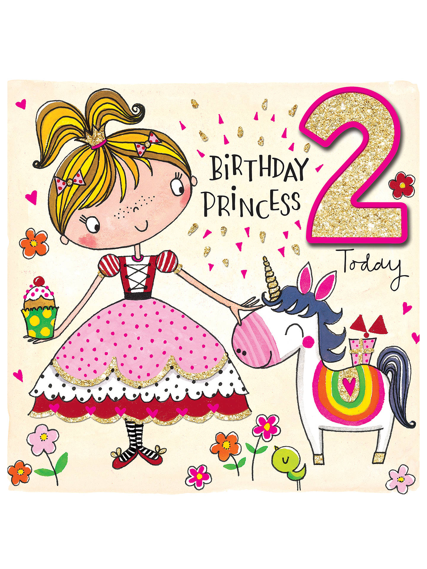 Buy Rachel Ellen Princess 2nd Birthday Card Online At Johnlewis