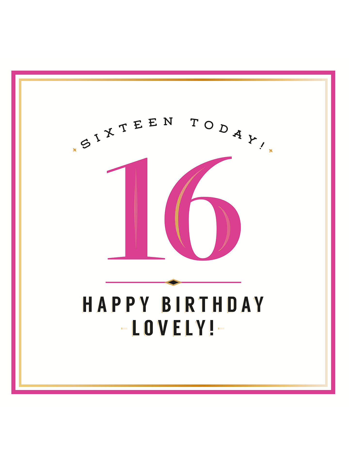 Buy Pigment Sweet Sixteen Birthday Card Online At Johnlewis